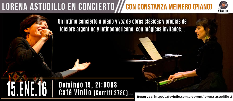 Lorena Astudillo en concierto en cafe vinilo